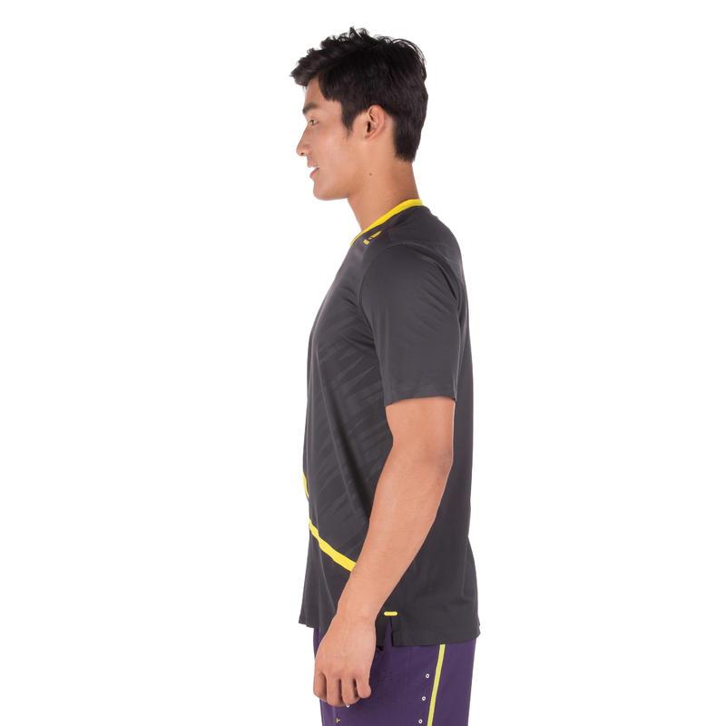 เสื้อยืดเพื่อการเล่นกีฬาแร็คเกตรุ่น Light (สีเทา/เหลือง)