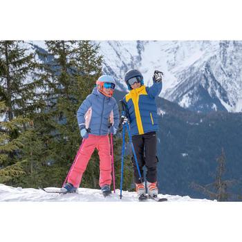 KIDS' SKI JACKET WARM 500 - YELLOW AND BLUE