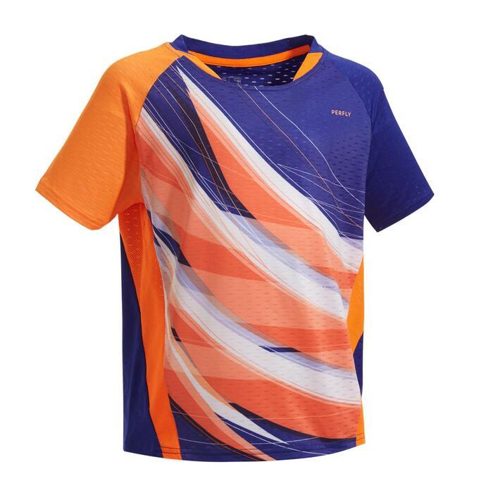 青少年款T恤560藍橘配色