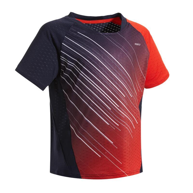 T-Shirt 560 Junior - Marine/Rouge