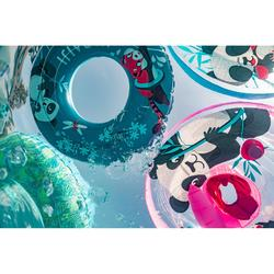 """Inflatable buoy printed """"PANDAS"""" for kids 6-9 Years 65 cm blue"""