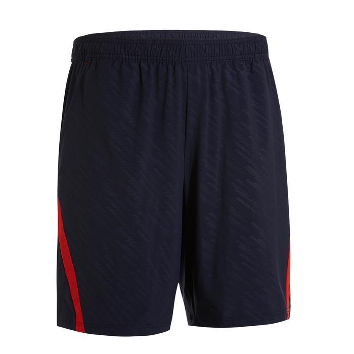 Badmintonshort voor heren 560 marineblauw/rood