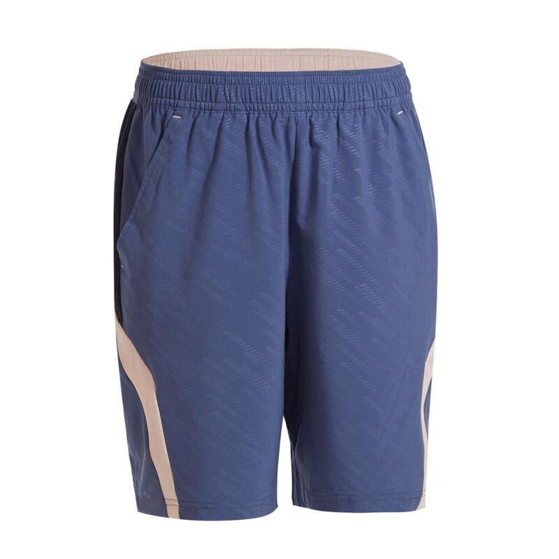 青少年款短褲560-灰粉配色