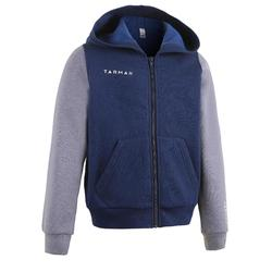J100 Boys'/Girls' Beginner Basketball Tracksuit Jacket - Navy/Grey