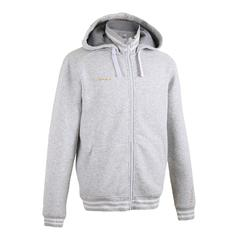 J500 Intermediate Hooded Zip-Up Basketball Jacket - Light Grey