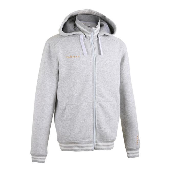 J500 Intermediate Hooded Zip-Up Basketball Jacket - Light Grey