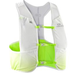 Chaleco Hidratación Running Maratón Blanco Verde Fluorescente