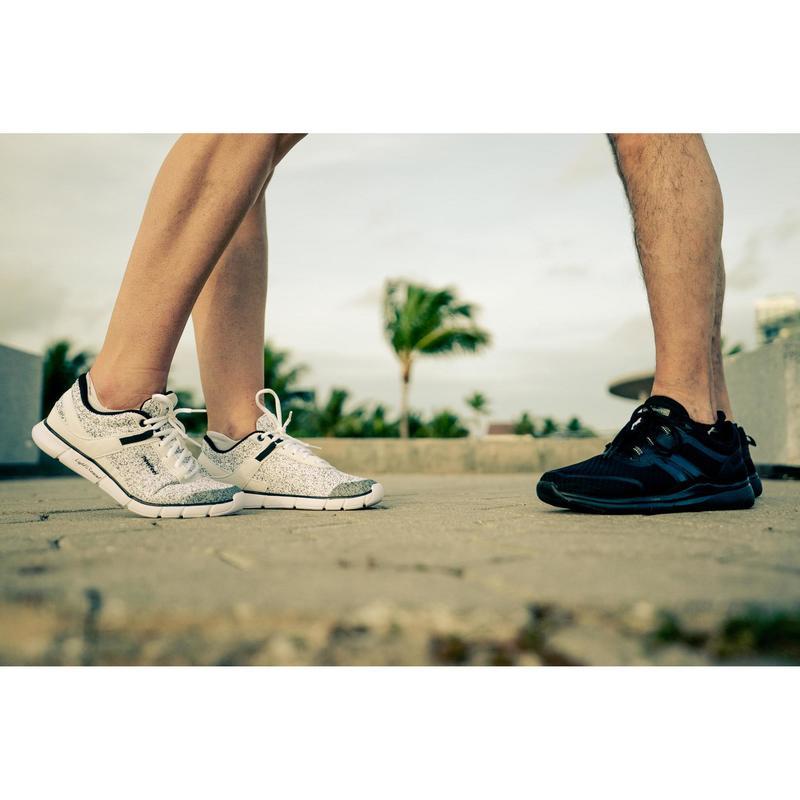 prix modéré style populaire le prix reste stable Chaussures femme - Chaussures marche sportive femme Soft 540 blanc moucheté