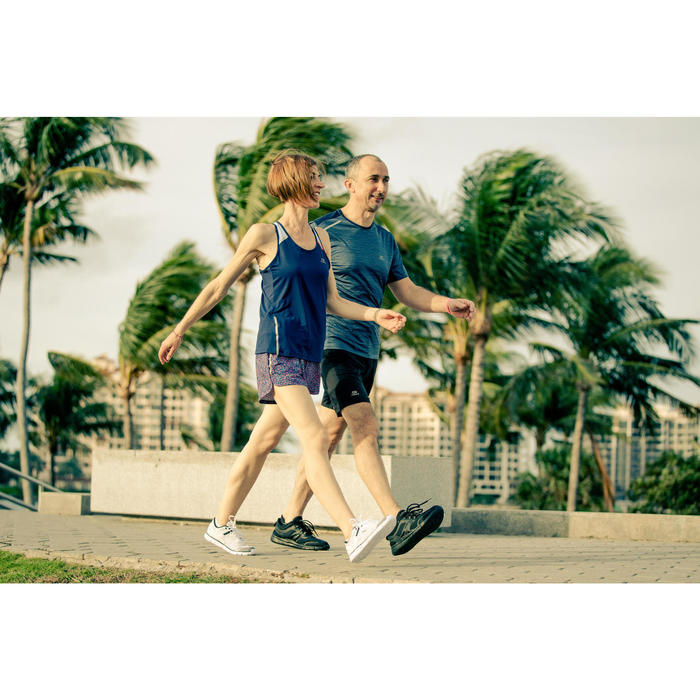 Damessneakers voor sportief wandelen Soft 540 wit gespikkeld