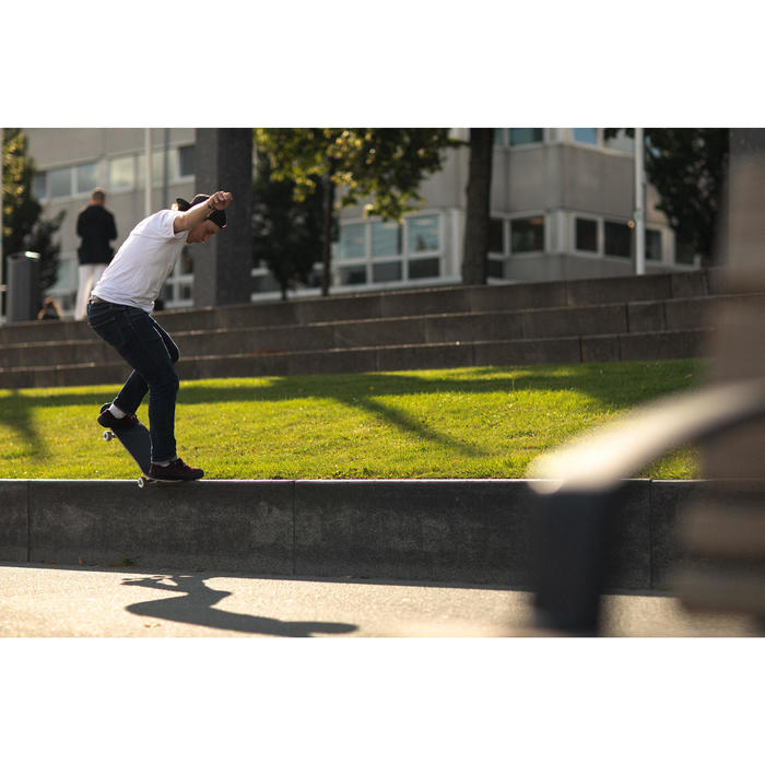 Chaussettes semi-montantes de skateboard SOCKS 500 Noires