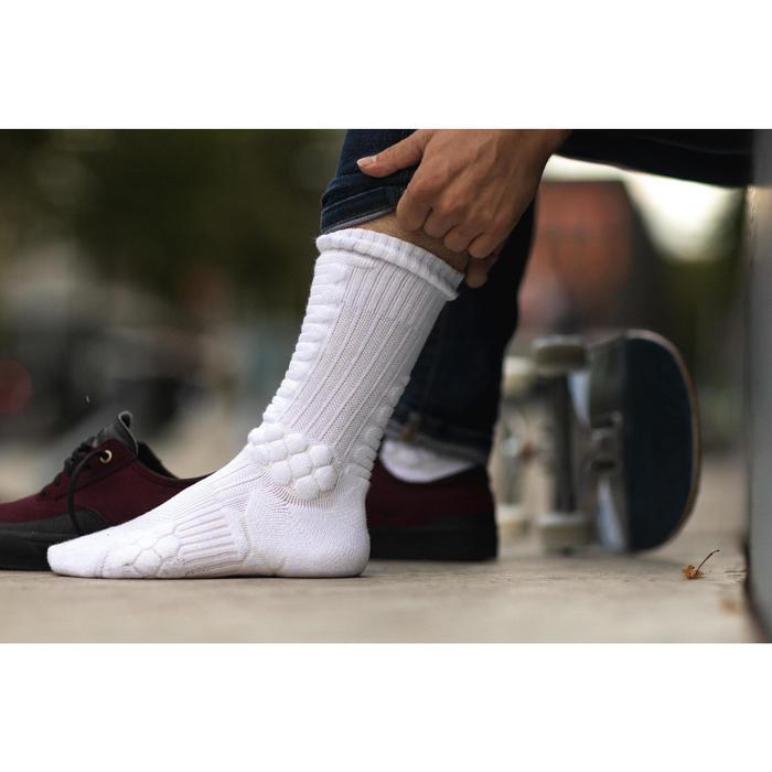 Halfhoge skateboardsokken Socks 500 wit