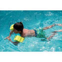 Calção largo de natação bebé menino verde estampado PALMEIRAS