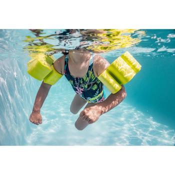 Foam zwembandjes met elastiek voor kinderen van 15-30 kg groen