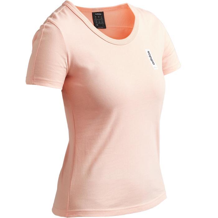 Dames T-shirt regular fit roze