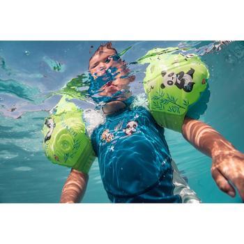 Uv-werend zwempakje voor peuters Kloupi blauw/groen met pandaprint