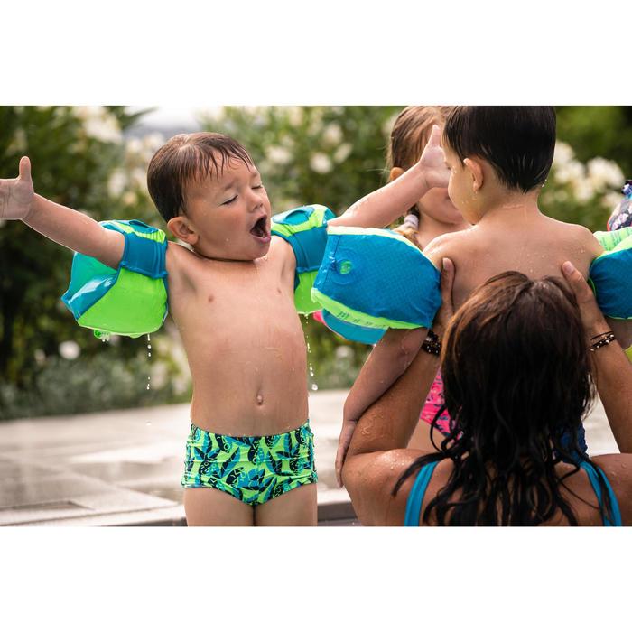Maillot de bain bébé garçon boxer vert imprimé