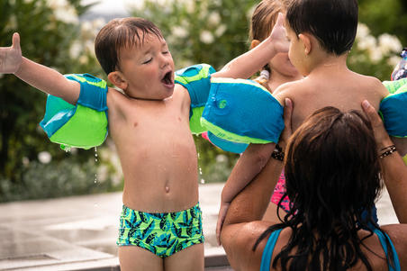 Baby Boys' Boxer Swim Shorts - Green Print