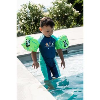 Combinaison anti UV bébé kloupi bleu et vert imprimé PANDA