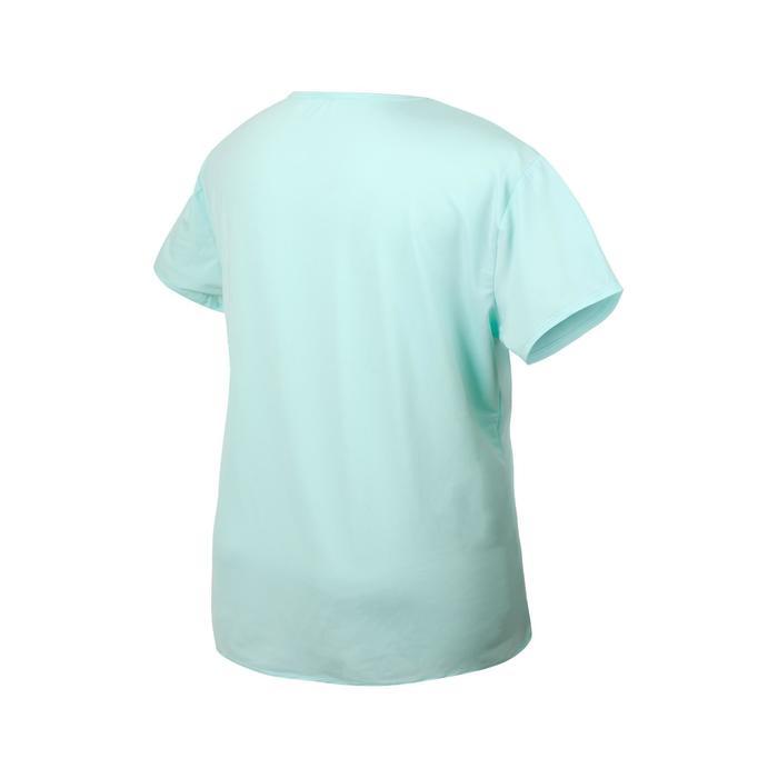 女款有氧健身訓練T恤100-淺草綠