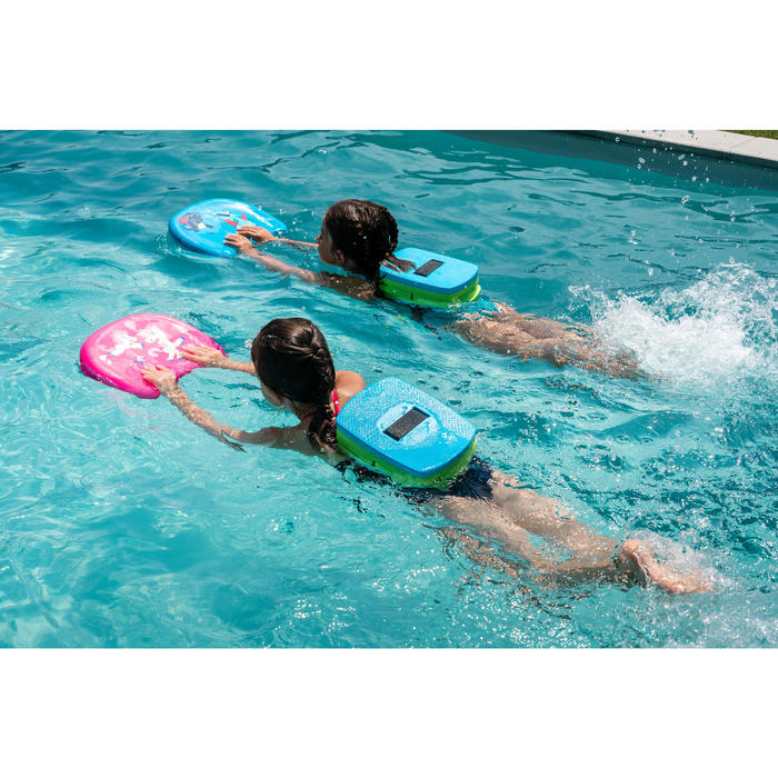 Kickboard voor kinderen blauw met drakenprint