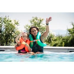 Gilet de natation gonflable vert Taille M (50-75 kg)