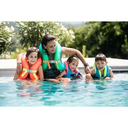 Gilet de natation gonflable orange 18-30 KG