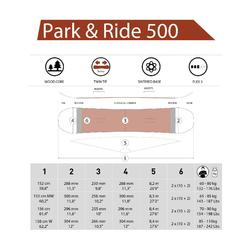 All mountain & freestyle snowboard voor heren en dames Park & Ride 500