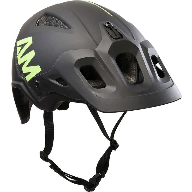 ADULT ALL MOUNTAIN MTB HELMETS Cycling - All Mountain Helmet - Black ROCKRIDER - Cycling