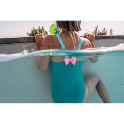 Maillot de bain 1 pièce bébé fille bleu imprimé animaux