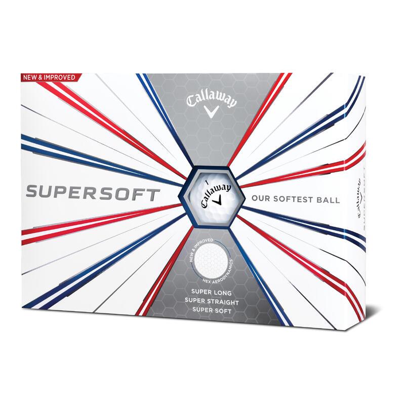 Golfballen Supersoft x12 wit