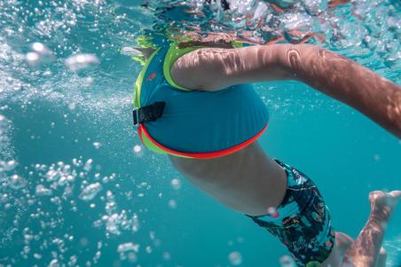 """וסט שחייה דגם SWIMVEST - כחול ירוק (15-25 ק""""ג)"""
