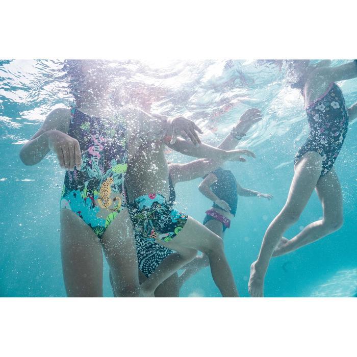 Cuecas de fato de banho de natação bebé menina estampado azul flores