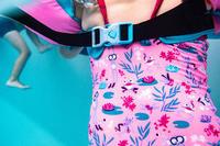 Купальник слитный для девочек розовый с принтом