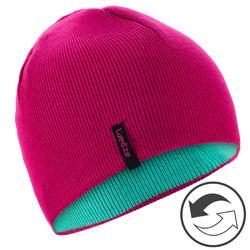 兒童滑雪雙面帽 - 粉色藍色