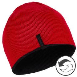 REVERSE CHILDREN'S SKI HAT - BLACK RED