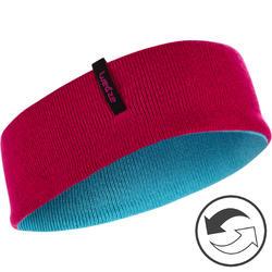 Keerbare skihoofdband voor kinderen Reverse roze/blauw