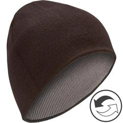 雙面滑雪帽 - 黑色/灰色
