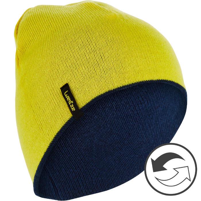 Omkeerbare skimuts Reverse geel/blauw