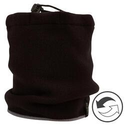 成人滑雪圍巾REVERSE黑色/灰色