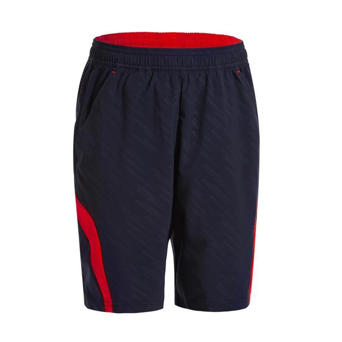 Badmintonshort voor kinderen 560 marineblauw/rood
