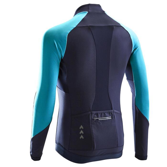 Fietsshirt met lange mouwen voor heren RC500 marineblauw/blauw
