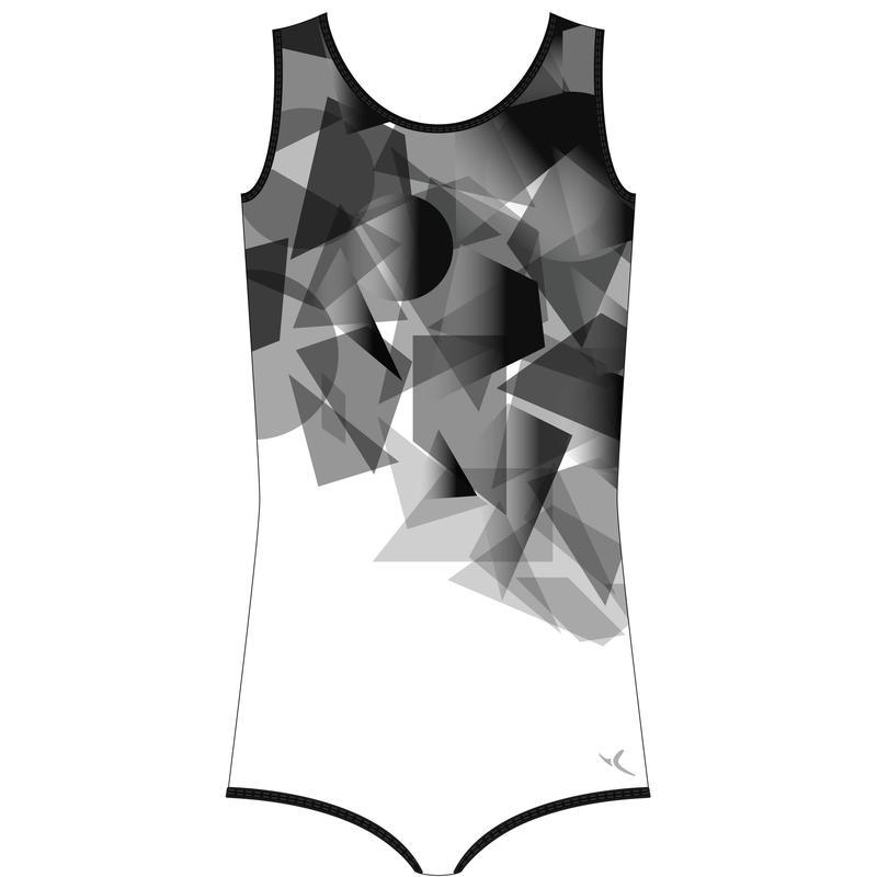 Léotard Gymnastique Artistique Masculine Noir/ Gris