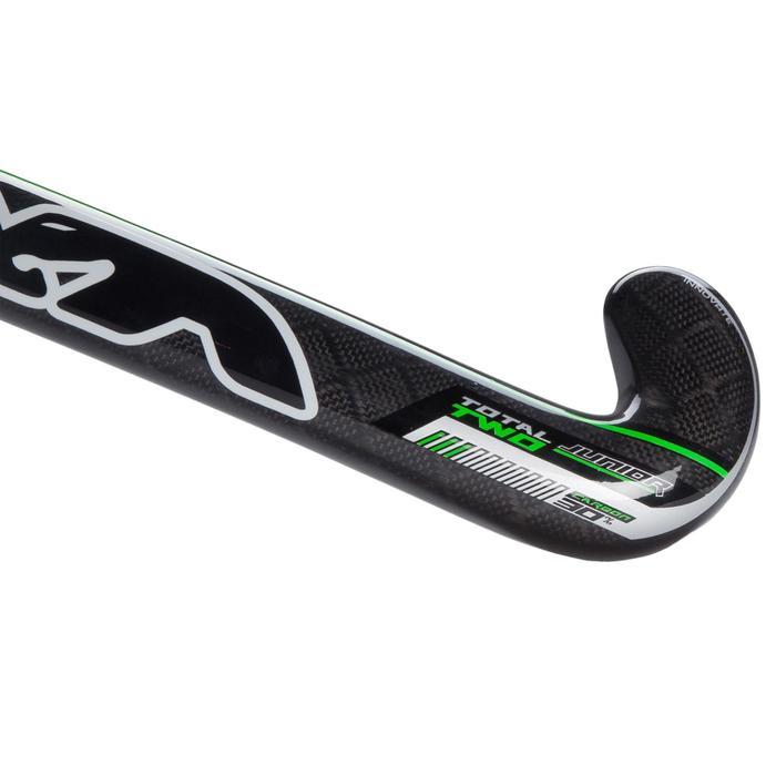 Veldhockeystick voor ervaren kinderen 20% carbon Mid bow Total2 groen