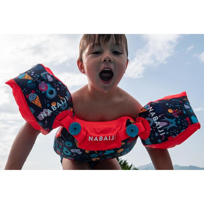 Brassards-ceinture piscine évolutif TISWIM enfant bleu foncé