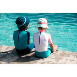 Chapeau anti UV bébé nageur bleu