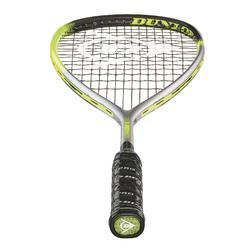 Raqueta Squash Dunlop Hyperfibre Xt Revelation 125 Adulto Gris/Amarillo/Negro