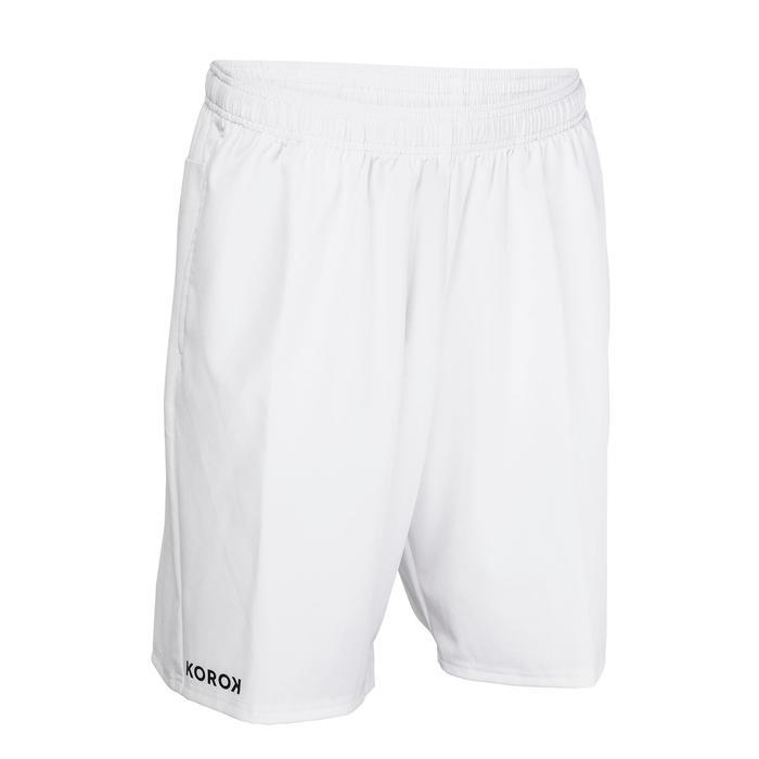 Pantalón corto de hockey sobre hierba hombre FH500 blanco