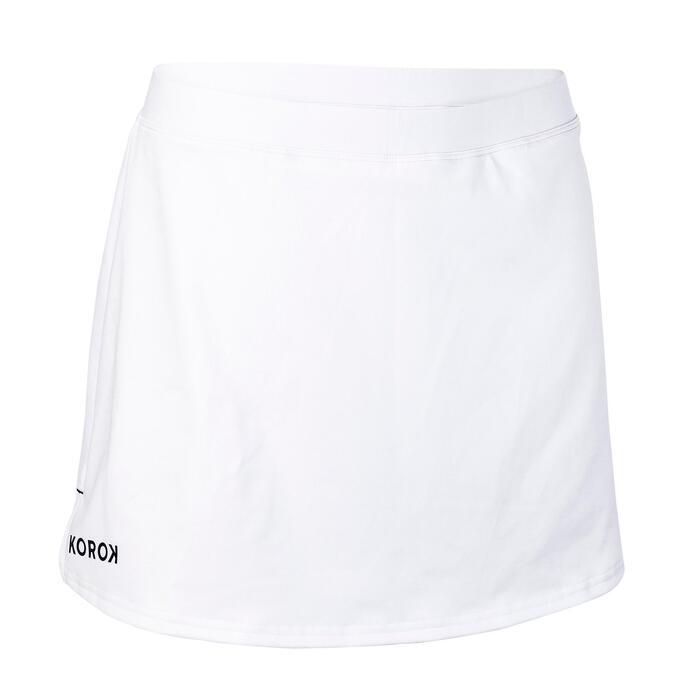 Hockeyrokje voor dames FH500 wit