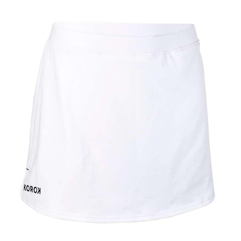 APPAREL FIELDHOCKEY Field Hockey - FHSK500 Women's Skirt - White KOROK - Field Hockey
