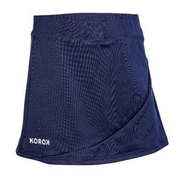 Falda de hockey sobre hierba niña FH100 azul marino